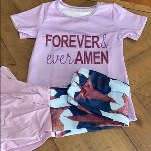 "Other - Boutique Girls ""Forever & Ever Amen"" Girls Outfit"
